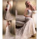 Свадебное платье силуэта русалка с вышивкой